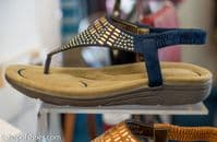 beautifully beaded comfortable soft toe post womens summer sandals from our shop between Andover and Basingstoke on the Hampshire Berkshire border.